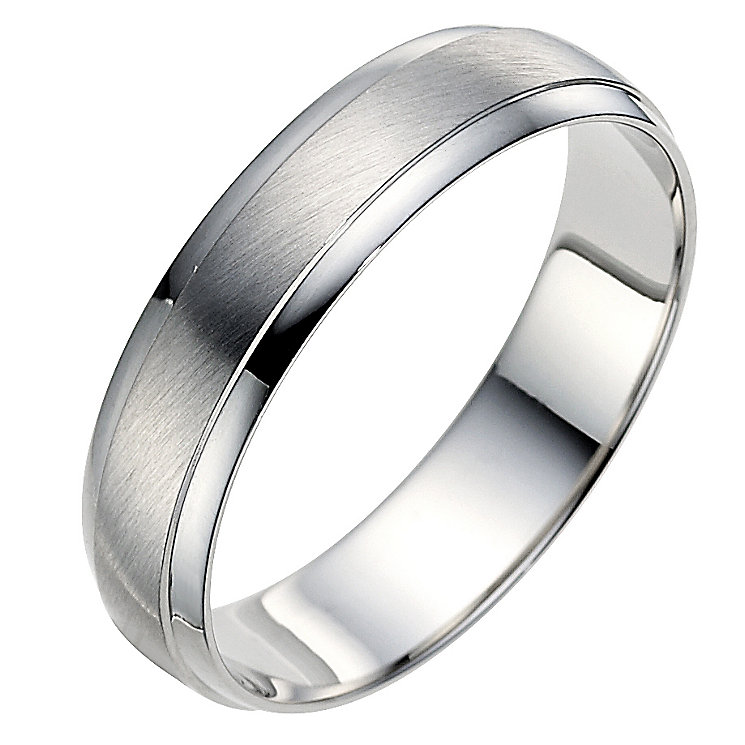 Palladium 950 5mm matt & polished ring - Product number 8604886