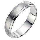 Palladium 950 5mm matt & polished ring - Product number 8604886