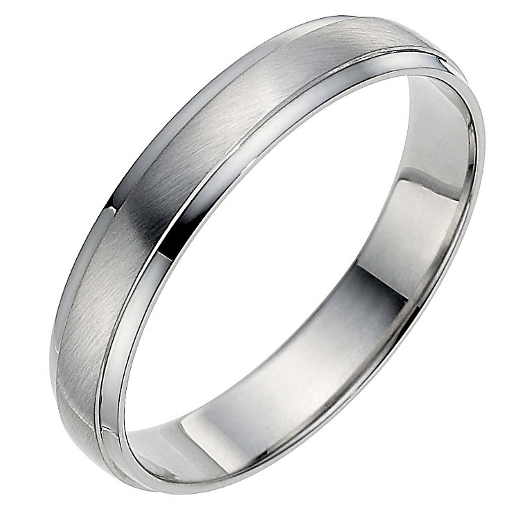 Palladium 950 4mm matt & polished ring - Product number 8604894