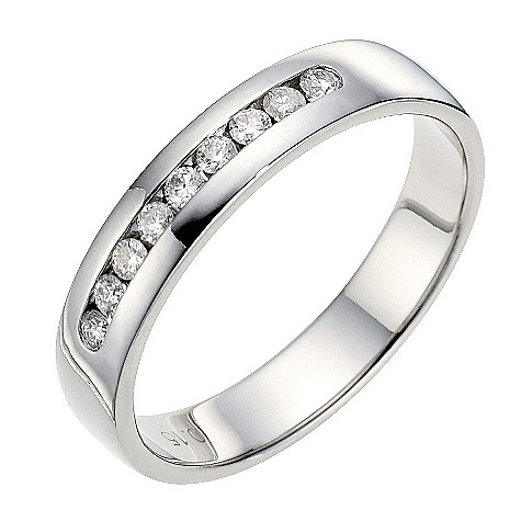 Palladium 4mm diamond wedding ring