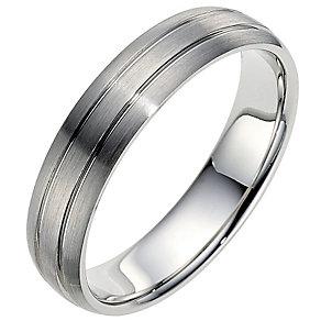 Palladium 950 5mm twin groove matt ring - Product number 8606749