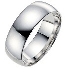 9ct white gold extra heavyweight 7mm wedding ring - Product number 8606757