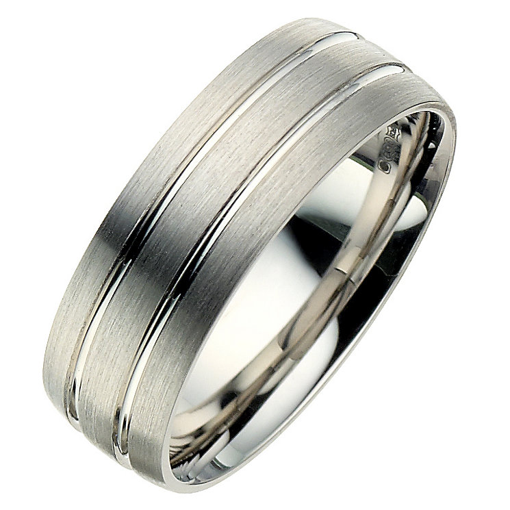 Palladium 950 7mm twin groove matt ring - Product number 8606773