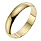 18ct yellow gold 4mm D shape wedding ring - Product number 8606781