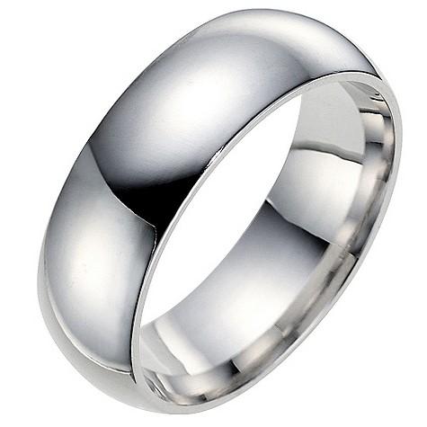 Men's 9ct white gold 7mm super heavyweight wedding ring