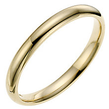 9ct yellow gold 2mm super heavyweight court ring - Product number 8613001