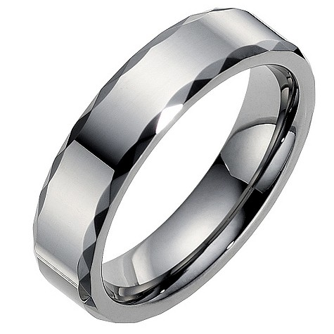 Tungsten beveled edge ring