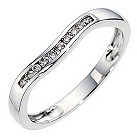9ct white gold diamond set wedding ring. - Product number 8614784