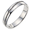 9ct white gold diagonal diamond set wedding ring - Product number 8615497