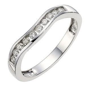 9ct white gold quarter carat diamond wedding ring - Product number 8615624