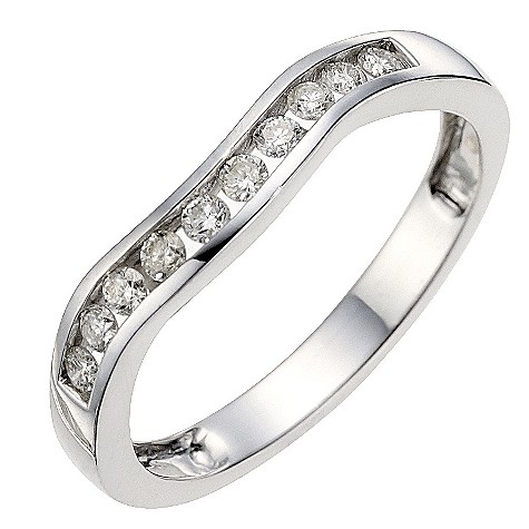 9ct white gold quarter carat diamond wedding ring