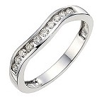 9ct white gold quarter carat diamond wedding ring - Product number 8615624