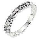 9ct white gold vintage diamond wedding ring - Product number 8616272