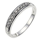 9ct white gold diamond wedding ring - Product number 8616531
