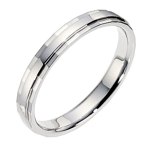 18ct diamond cut wedding ring