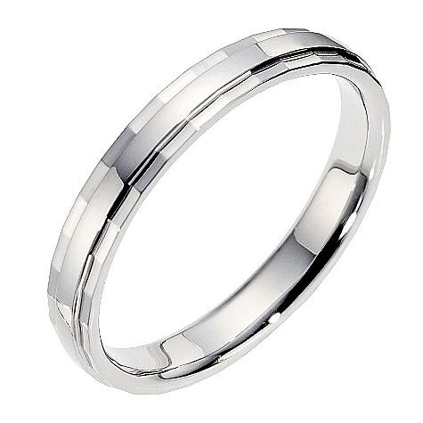 18ct diamond cut wedding ring