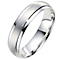 9ct white gold 5mm matt & polished finish wedding ring - Product number 8617600