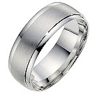 9ct white gold 7mm matt & polished finish wedding ring - Product number 8617627