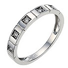9ct white gold diamond ring - Product number 8620938