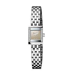 Gucci ladies' square dial stainless steel bracelet watch - Product number 8626197