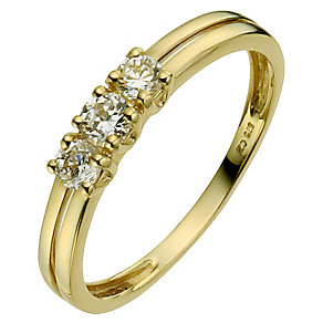 9ct Yellow Gold Cubic Zirconia Ring - Product number 8628882