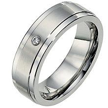 Cobalt 7mm diamond matt & polished wedding ring - Product number 8632375