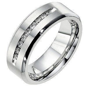 Cobalt 8mm wedding fifth carat diamond wedding ring - Product number 8632642