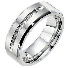Cobalt 8mm wedding fifth carat diamond wedding ring - Product number 8632642