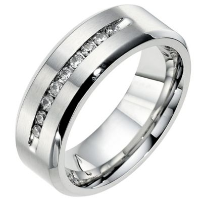 Cobalt 8mm wedding fifth carat diamond wedding ring Ernest Jones