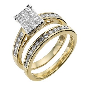 18ct gold diamond bridal set - Product number 8635625