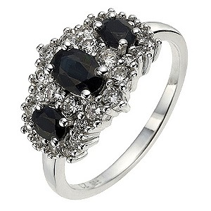 Silver 3 Sapphire