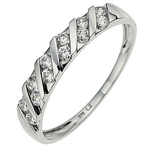 9ct White Gold Cubic Zirconia Eternity Ring - Product number 8639663