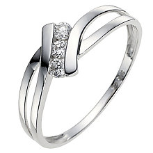 9ct White Gold Cubic Zirconia Ring - Product number 8639817