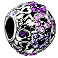 Chamilia Sterling Silver Purple Crystal Captured Hearts Bead - Product number 8642192
