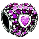 Chamilia sterling silver pink heart bead. - Product number 8642451