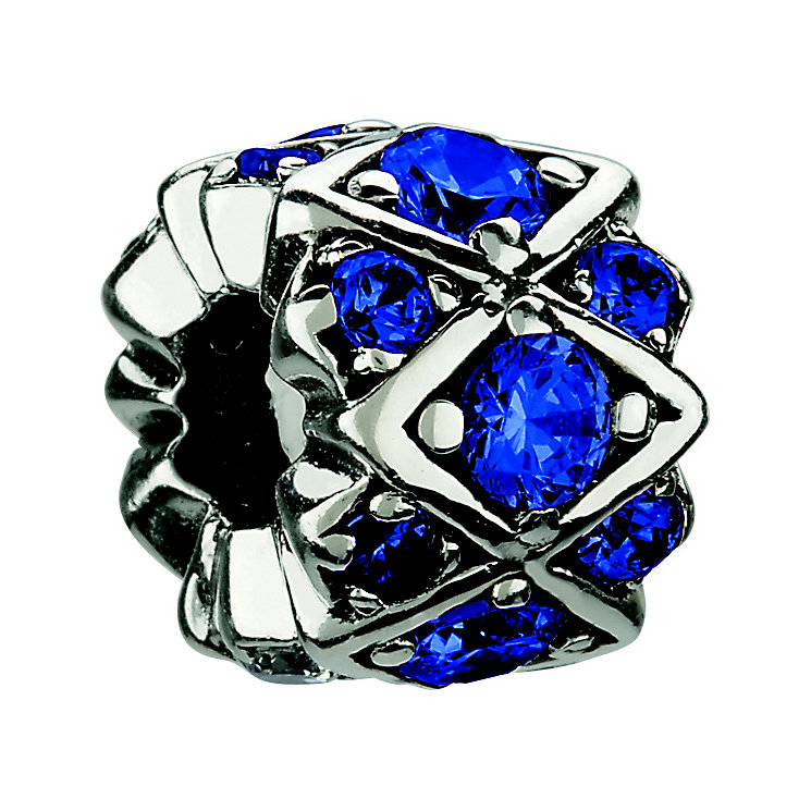 Chamilia sterling silver blue crystal bead - Product number 8642516