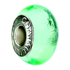 Chamilia sterling silver green murano glass bead - Product number 8642591
