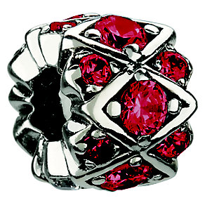 Chamilia sterling silver red crystal bead - Product number 8642648