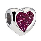 Miss Chamilia sterling silver red glitter heart bead - Product number 8642702