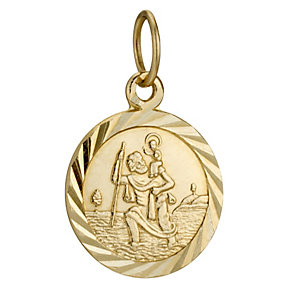 9ct Yellow Gold St Christopher Charm - Product number 8645353