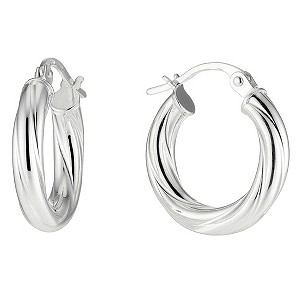 Silver Twist Creole Earrings - Product number 8648166