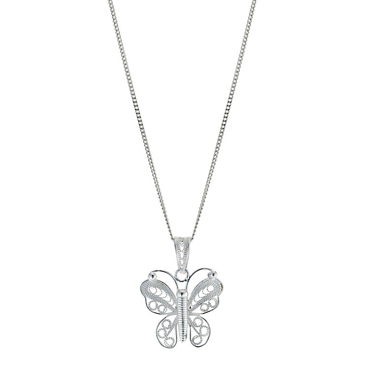 Silver Large Butterfly Pendant - Product number 8648603