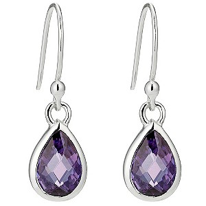 Silver Lavender Crystal Drop Earrings - Product number 8648875