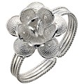 Silver Adjustable Flower Ring - Product number 8649081