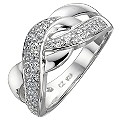 Silver Cubic Zirconia Weave Ring - Size L - Product number 8649146