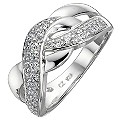 Silver Cubic Zirconia Weave Ring - Size P - Product number 8649162