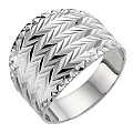 Silver Diamond Cut Oversized Ring - Product number 8649197