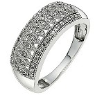 9ct white gold vintage 0.15 carat diamond ring - Product number 8650179