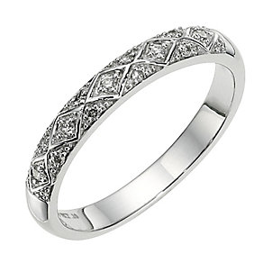 9ct white gold diamond eternity band - Product number 8650306