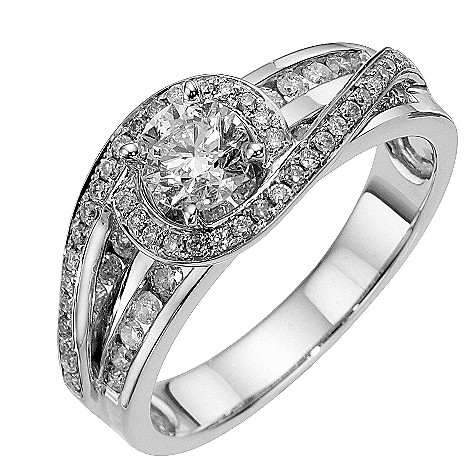 18ct white gold 1 carat diamond solitaire ring